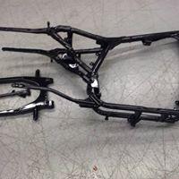 harley-sportster-frame-powder-coated-glossy-black-ware-ma-western-mass-powder-coating